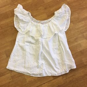 Anthropologie off the shoulder top size S